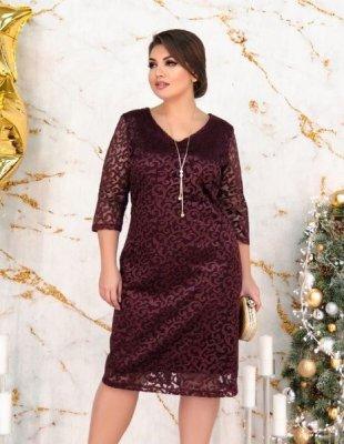 Роскошное вечернее платье 155 бордо