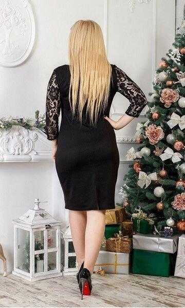Платье с гипюром 1293