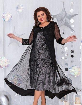 Нарядное платье-двойка 1463