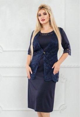 Платье с гипюром 1236