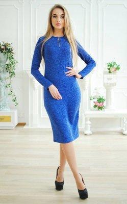 Платье ангора с молнией синие