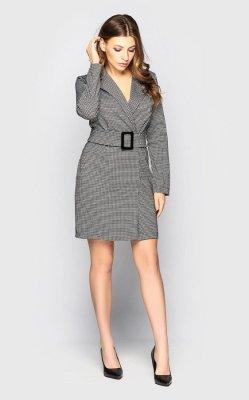 Платье-пиджак 4098 чёрно-белый