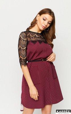 Платье Бертони марсала