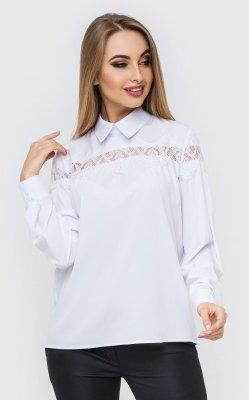 Расклешенная офисная блузка белая