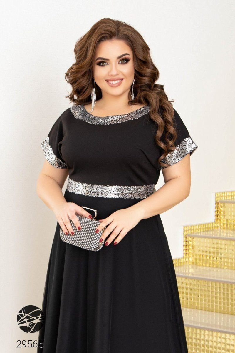 Платье 29565 черный