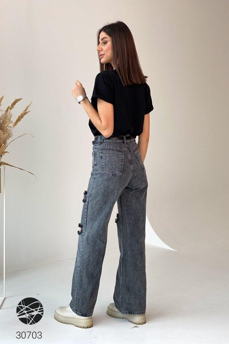 Расклешенные джинсы 30703 черный