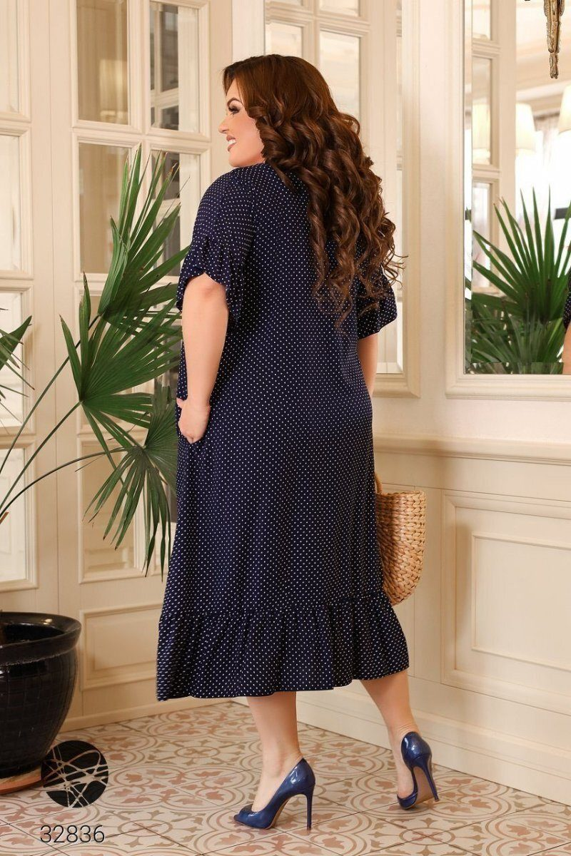 Платье 32836 синий
