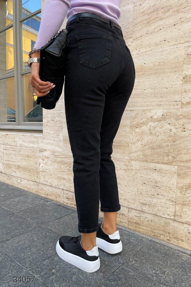 Черные джинсы мом 34057 черный
