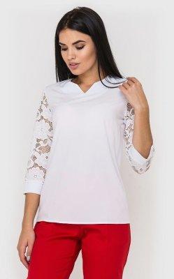 Роскошная кружевная блузка белая