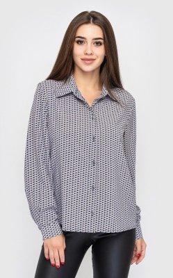 Рубашка принт 4143-3 серый