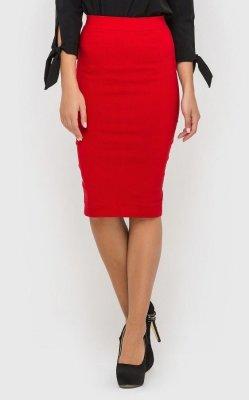 Стильная юбка-карандаш 1001 (красная)