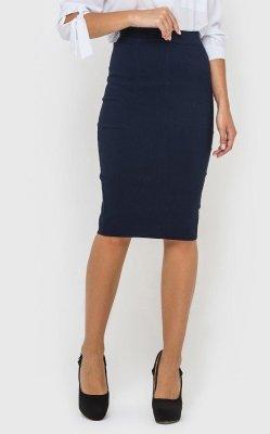 Стильная юбка-карандаш 3432 (синяя)