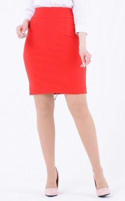 Стильная юбка карандаш красная