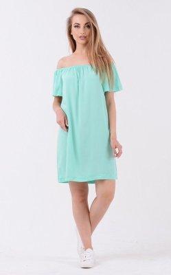 Стильное летнее платье 3214 мята