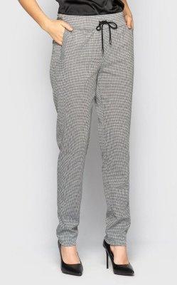 Стильные брюки 4086 чёрно-белые