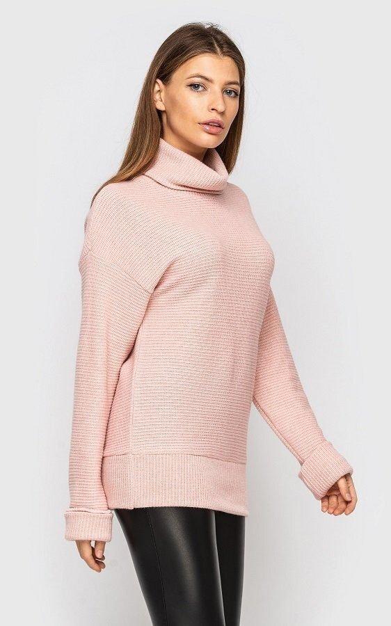 Свитер вязаный (розовый)