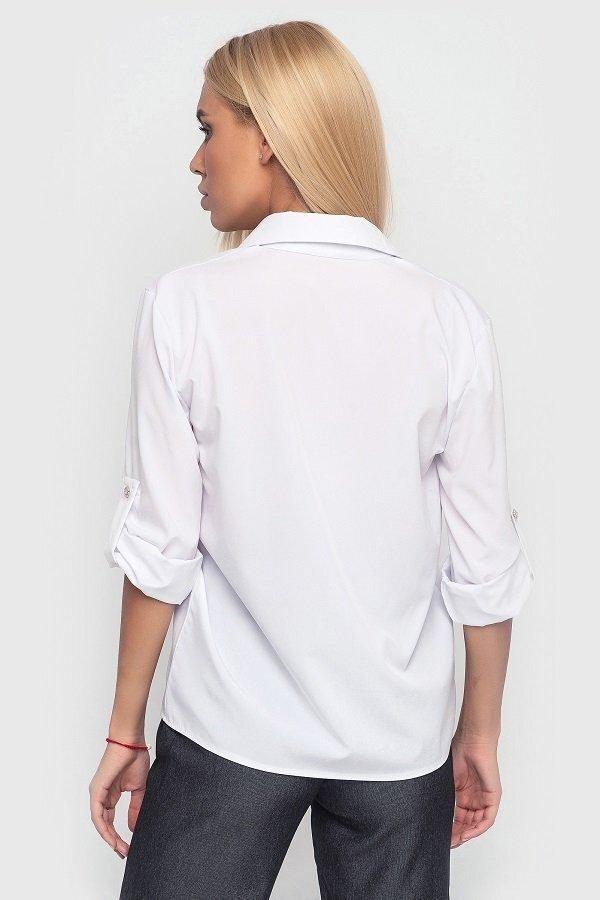 Свободная летняя рубашка 3904 (белая)