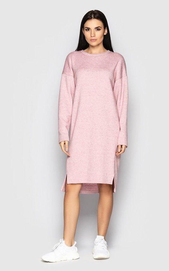 Теплое платье 4100 розовый