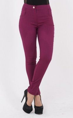 Трендові джинси з блискавкою фіолетові