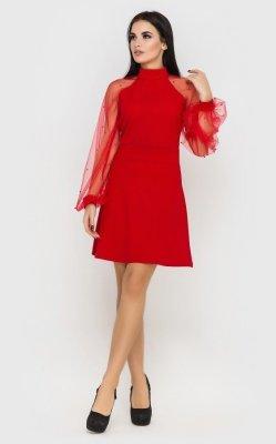 Вечернее короткое платье (красное)