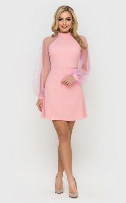 Вечернее короткое платье (розовое)
