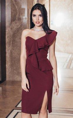 Вечернее платье 3871 (бордовое)