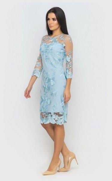 Вечернее платье 4069 (голубое)