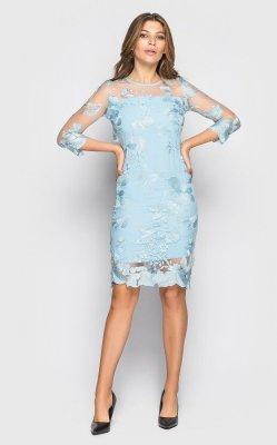Вечернее платье 4075 (голубое)