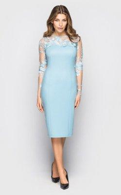 Вечернее платье 4063 (голубое)