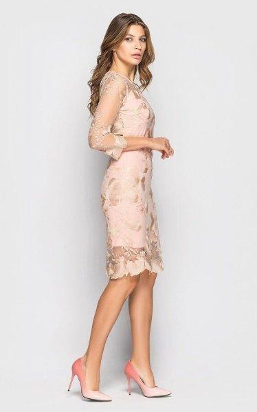 Вечернее платье 4075 (персиковое)