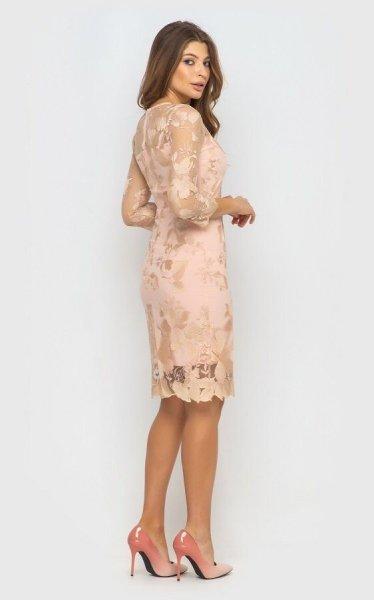 Вечернее платье 4069 (персиковое)