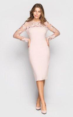Вечернее платье 4063 (персиковое)