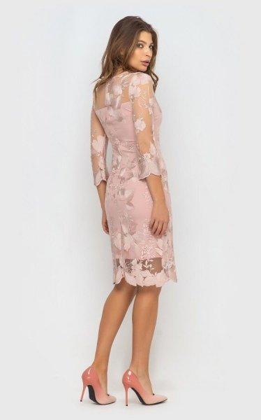 Вечернее платье 4069 (розовое)