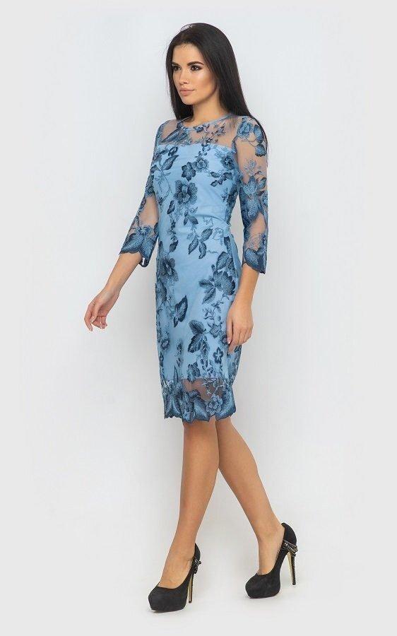 Вечернее платье 4069 (синее)