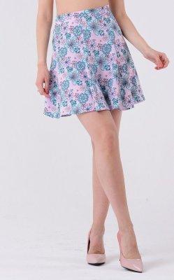 Воздушная юбка принт 3333 розовый