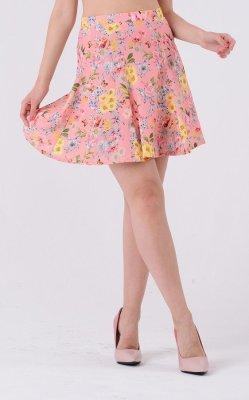 Воздушная юбка принт 3333 цветной принт