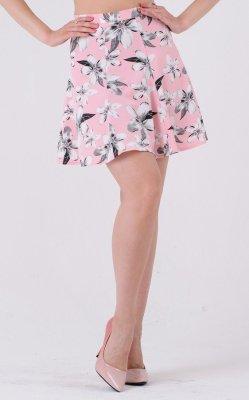 Воздушная юбка принт 3333 розовая