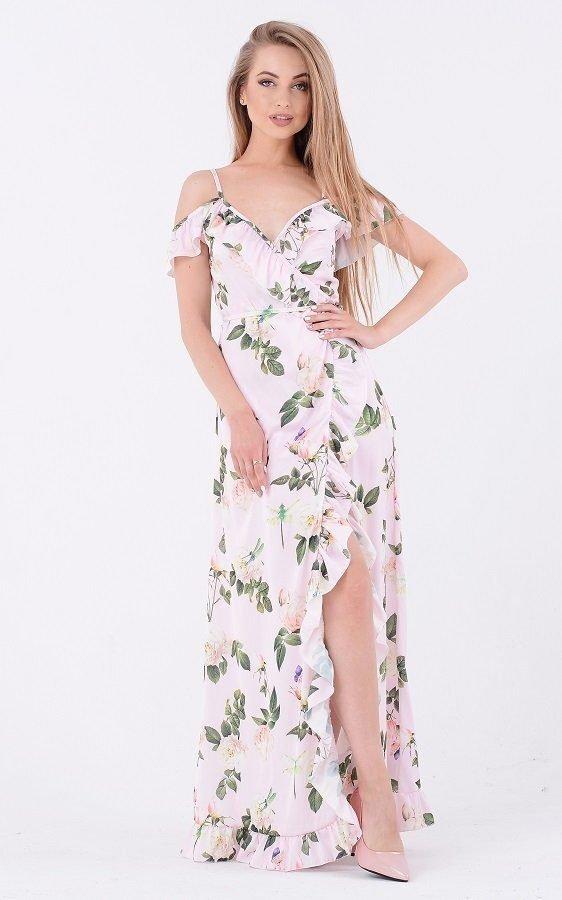 Яркий летний сарафан 3709 розовый