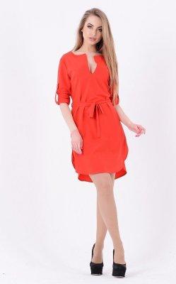 Яркое платье мини 3631 красный