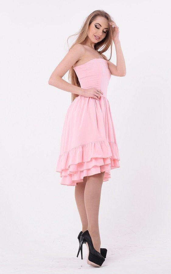 Яркое пышное платье 3552 розовый